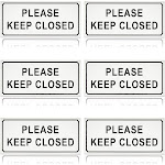 """6 Pack Please Keep Door Closed Sign 3.5"""" x 7.9"""" for Privacy at Business Home Office"""