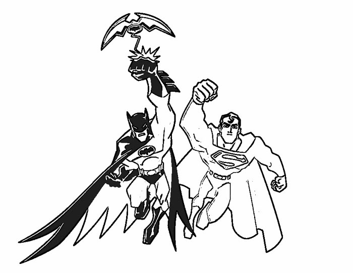 Free Coloring Pages For Kids Batman Drawing With Crayons