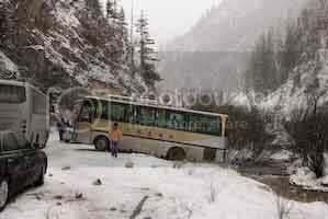 Bus off the road