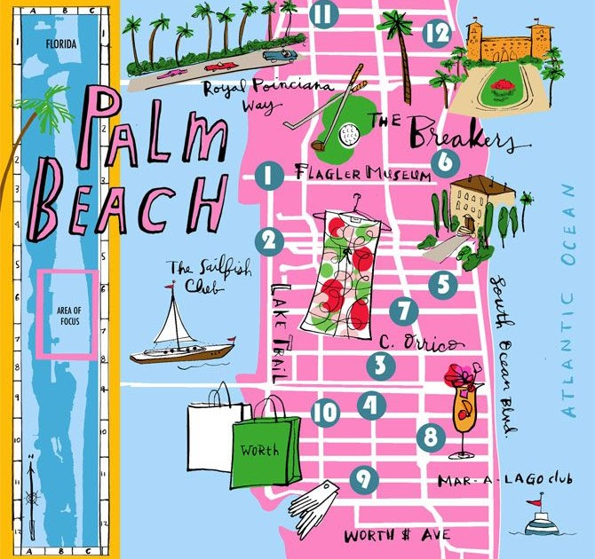 palm beach map of florida