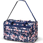 Zodaca Women Duffel Tote Bag with Adjustable Shoulder Carry Strap for Gym Sports Business Trip Camping Travel - Chinese Blossom