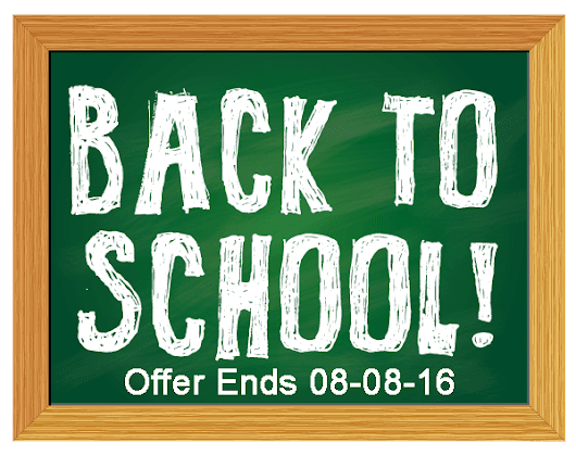Back To School Offer 21% off – Act Now!!!