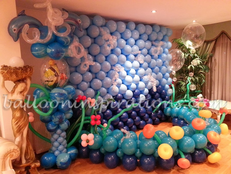 Sea World Party Themed Balloon Decorations