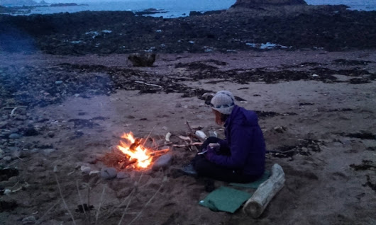 Wild Camp 1 in Coldingham / Eyemouth Scotland