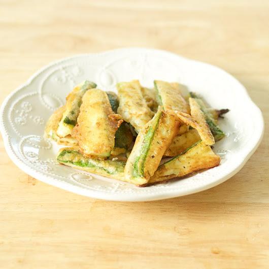 Sliced Zucchini Fried In Batter | Kolokythakia Tiganita | Lemon & Olives | Greek Food & Culture Blog
