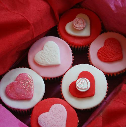 cupcakes, delicious, dessert, food, hearts
