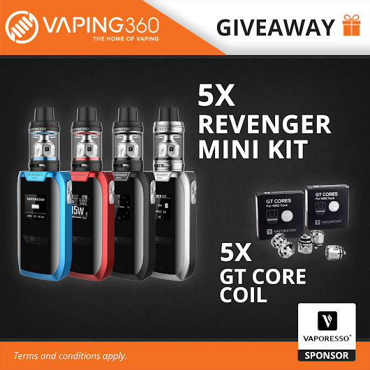 5 x Revenger Mini Kit + GT Core Coil Vaporesso Giveaway