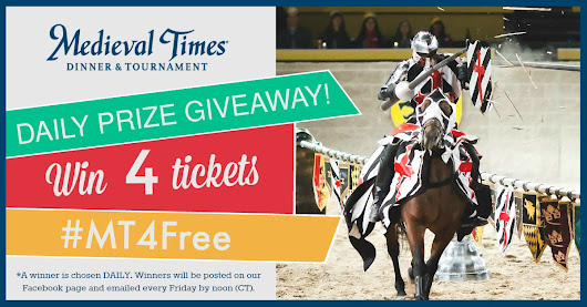 Enter to Win! Medieval Times Daily Sweepstakes