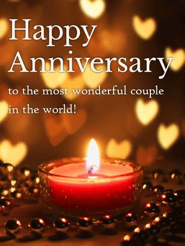 To the World's Most Wonderful Couple!   Happy Anniversary