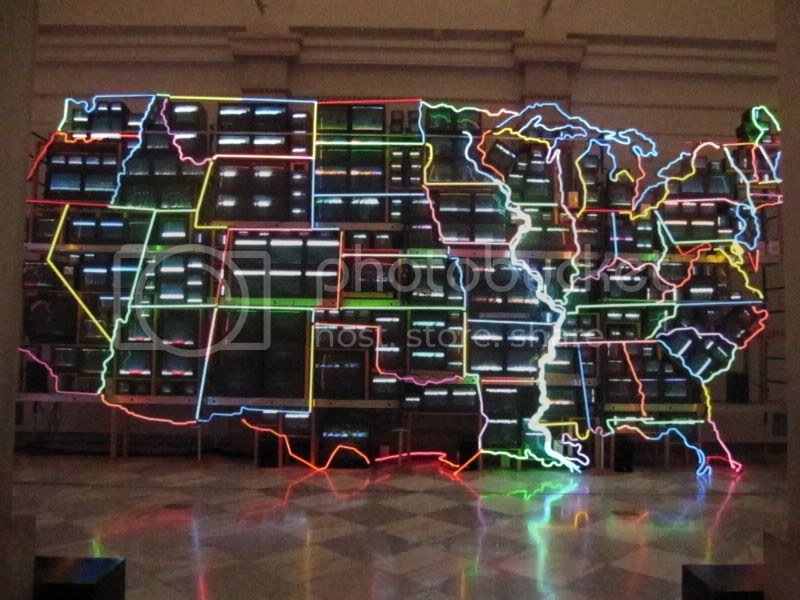 map of usa with tv's