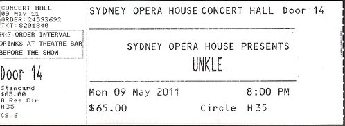 ticket - unkle with strings