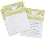 Hortense B. Hewitt 42245 Tea Time Bridal Shower Game Card