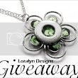 art and tree chatter of aquariann: Jewelry Giveaway: Silver Flower Necklace by Loralyn Designs