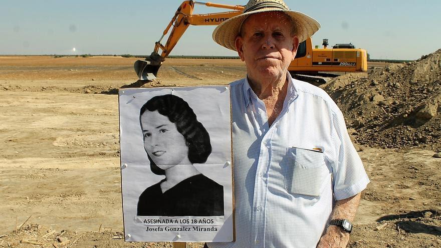 Pablo Caballero (87 años), sobrino de Josefa González (17 años al ser ejecutada). | JUAN MIGUEL BAQUERO