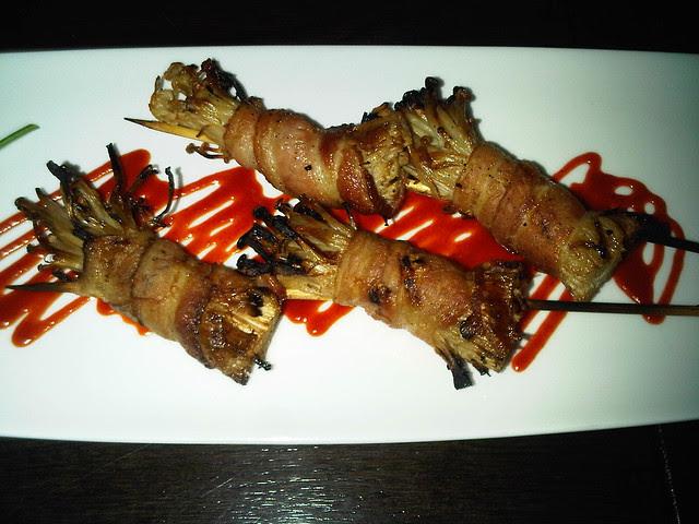 Bacon Wrapped Enoki