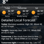 goweather 3 150x150 Go Weather, información metoreológica, widgets y animaciones espectaculares
