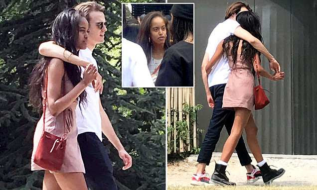 Malia Obama shares a kiss with Rory Farquharson in Paris