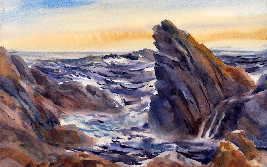Watercolor Painting Demonstration – Boston Guild of Artists | Vermont Watercolor Artist Tony Conner