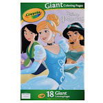 Crayola Coloring Pages, Disney Princess, Giant - 18 pages