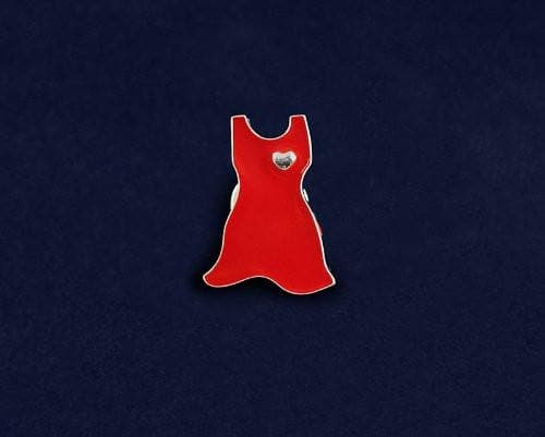 Small Red Dress Pin for Heart Disease