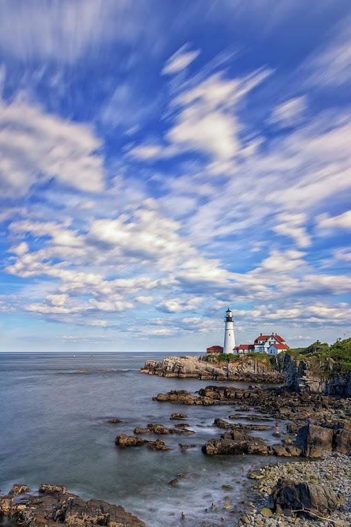#PortlandHead #lighthouse #CapeElizabeth #FortWilliams #park #Maine #NewEngland #coast #coastline #ocean...