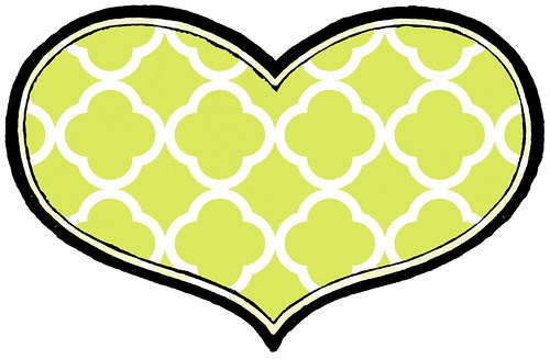 2 quatrefoil outline HEART