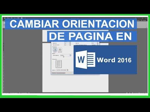 cambiar orientacion de pagina en word 2016