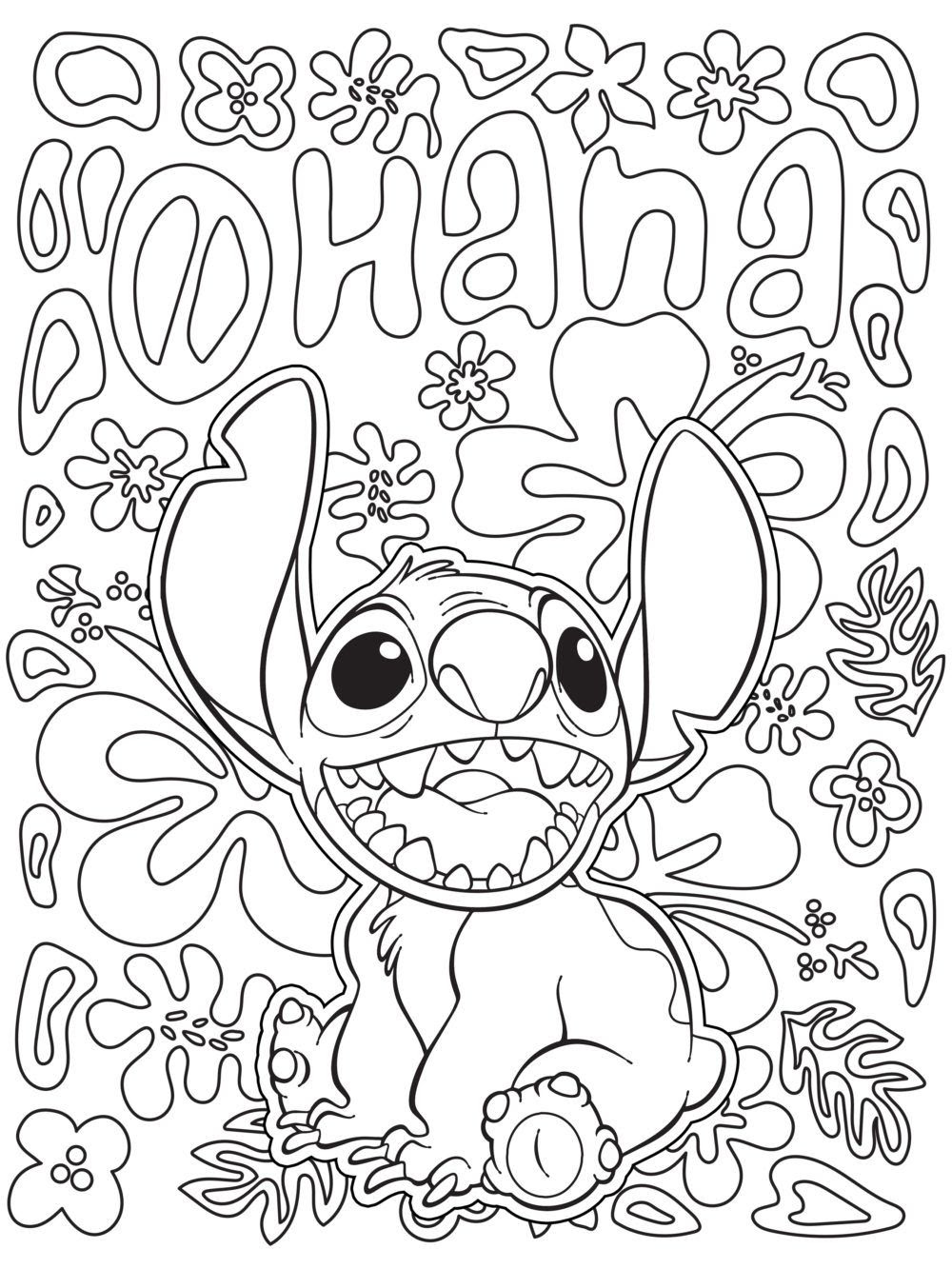 Disney Coloring Pages Lilo And Stitch At Getdrawingscom Free For
