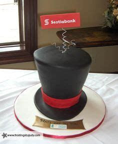 1000  images about top hat cakes on Pinterest   Black And