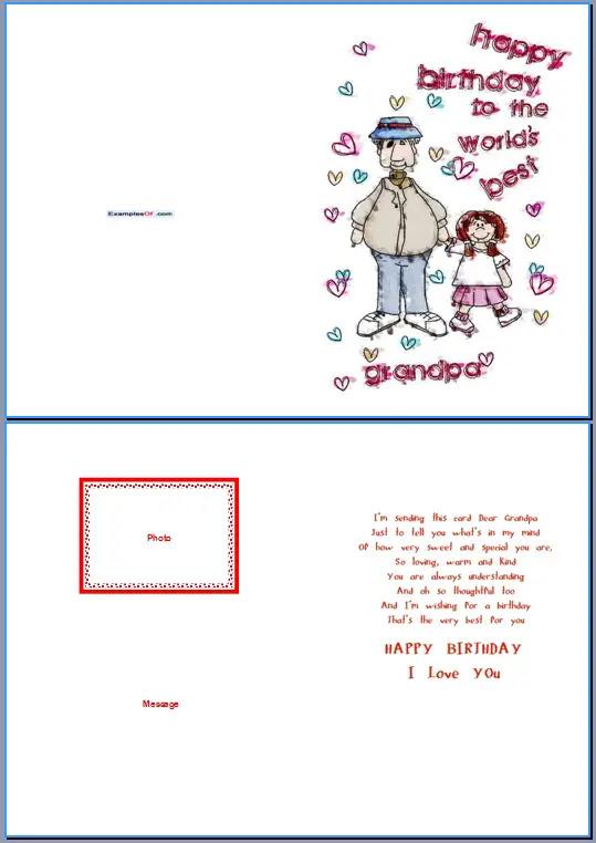 89 Birthday Card Template For Grandpa For Grandpa Birthday Template