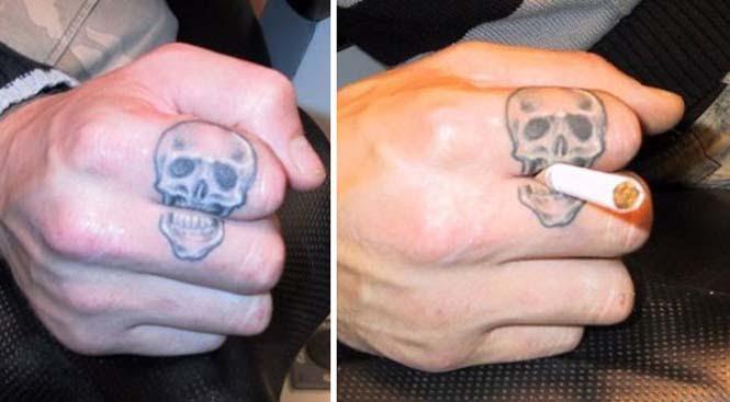 Δημιουργικά τατουάζ που αλληλεπιδρούν με το σώμα! (15)