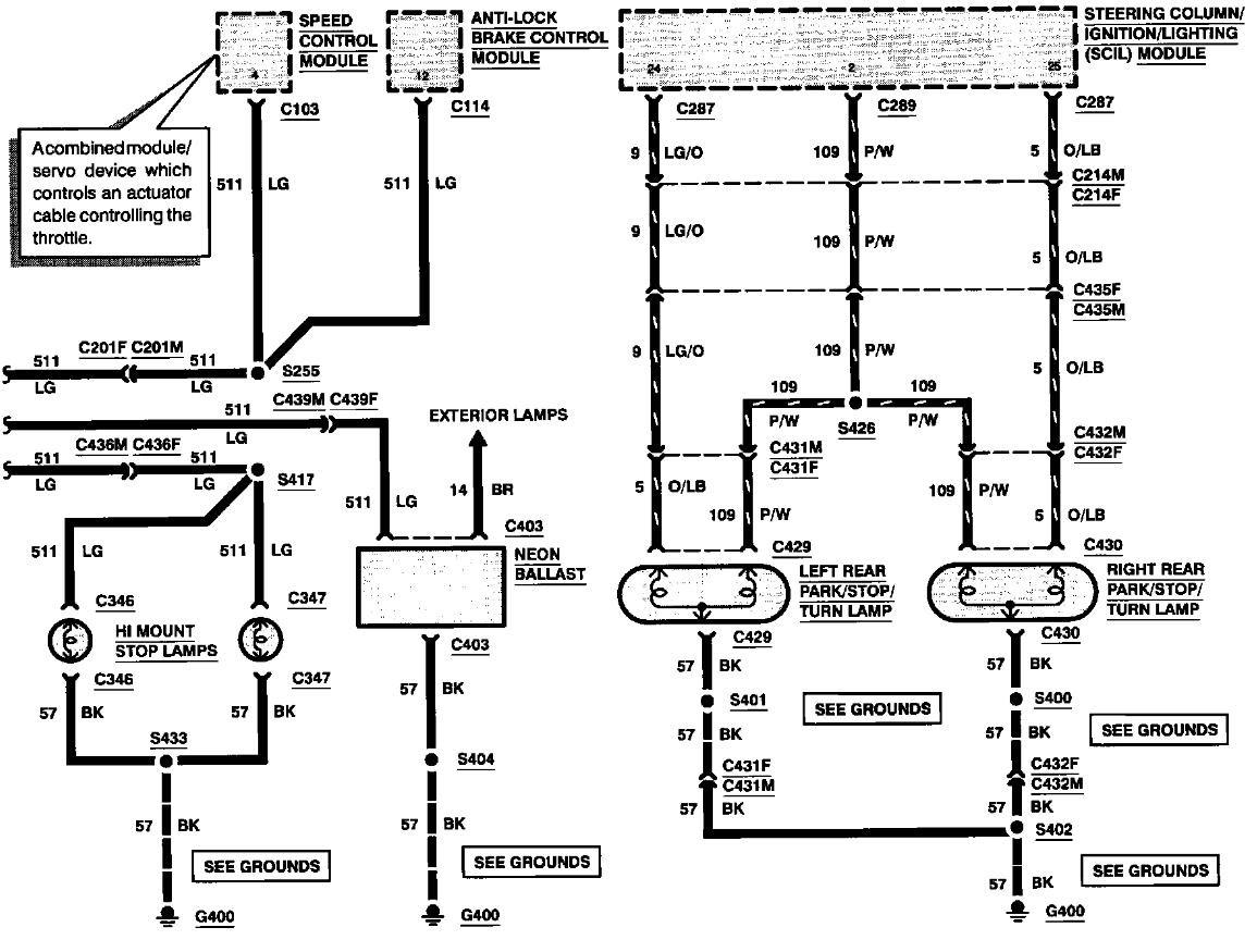 1994 Lincoln Mark 8 Fuse Diagram