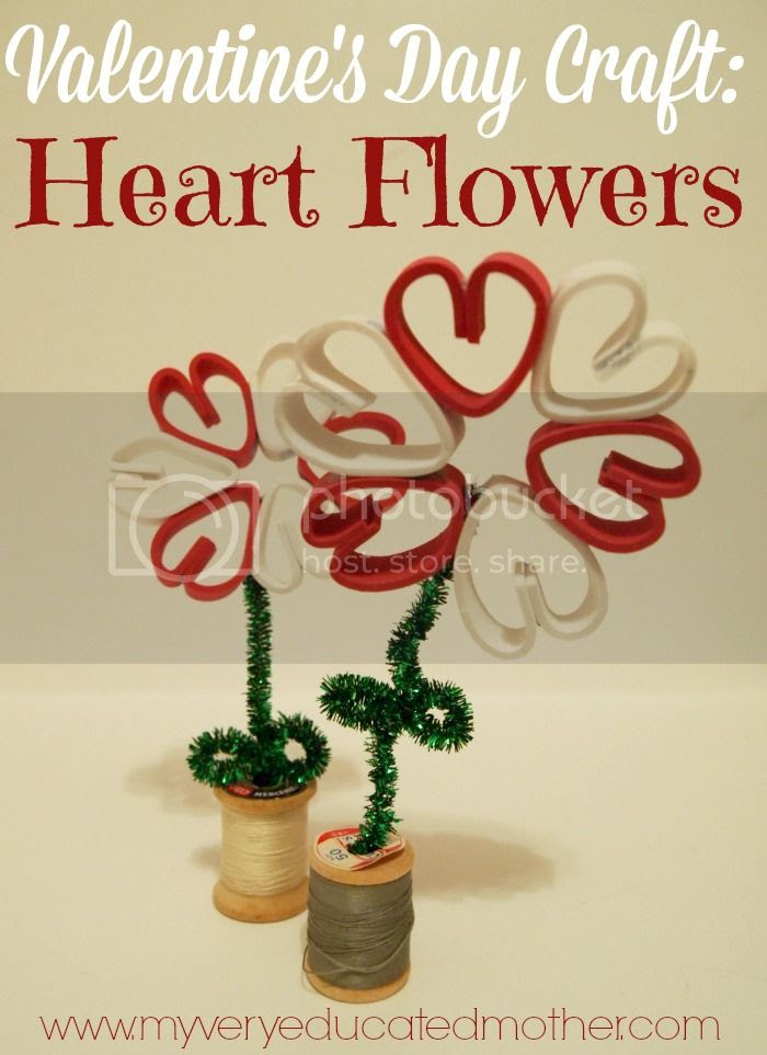 Valentine's Day Craft: Heart Flowers #adtechhoa via @mvemother