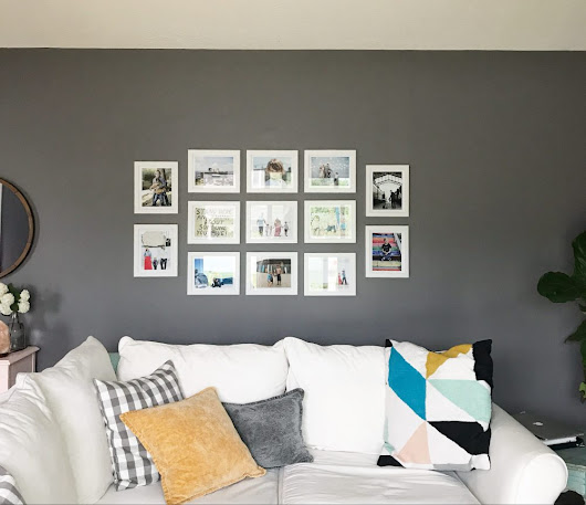 how I finally got our family photos of my devices and onto our walls + tips for creating your own gallery walls - Oh Lovely Day