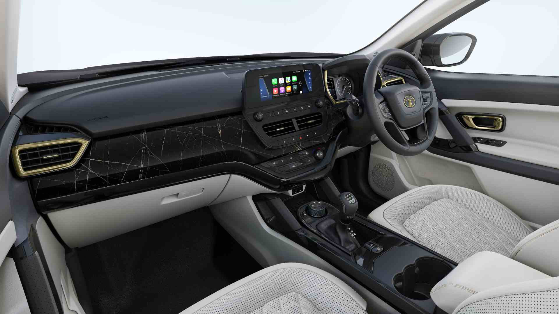 Seat ventilation and wireless Apple CarPlay and Android Auto are the big additions on the inside. Image: Tata Motors