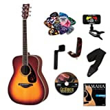 Yamaha FG720S Brown Sunburst Acoustic Guitar BUNDLE w/Legacy Accessory Kit (Tuner, DVD and Much More)