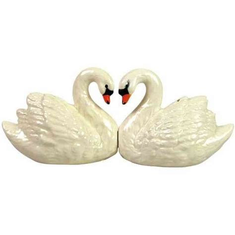 Swan Wedding Cake Topper Figurine   Wedding Collectibles
