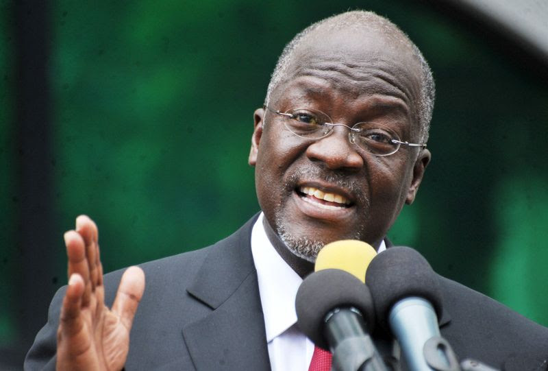 Tanzania's President elect John Pombe Magufuli addresses members of the ruling Chama Cha Mapinduzi Party (CCM) at the party's sub-head office on Lumumba road in Dar es Salaam, October 30, 2015. Tanzania's ruling party candidate, John Magufuli, was declared winner on Thursday of a presidential election, after the national electoral body dismissed opposition complaints about the process and a demand for a recount. The election has been the most hotly contested race in the more than half a century of rule by the Chama Cha Mapinduzi Party, which fielded Magufuli, 56, a minister for public works. REUTERS/Sadi Said