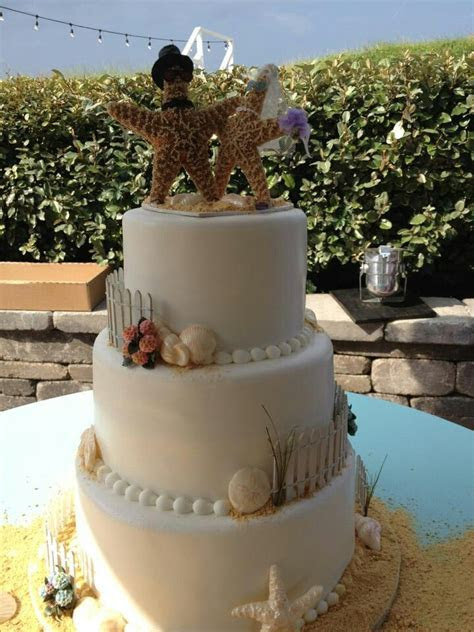 1000  images about Beach Wedding Cakes on Pinterest