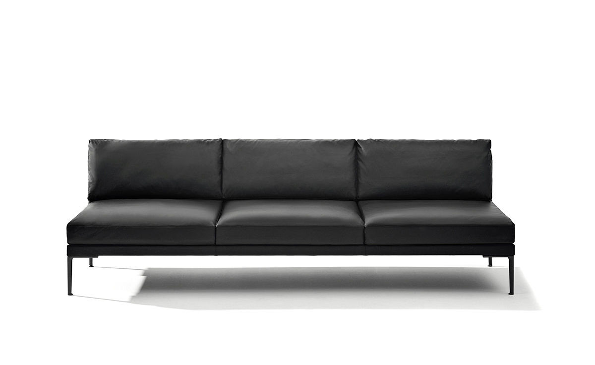 Steeve Three Seat Sofa Without Arms - hivemodern.com