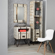 meuble de salle de bain en mindi  cm loft blanc