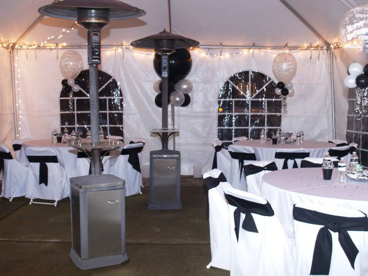 Black And White Mens 40th Birthday Party