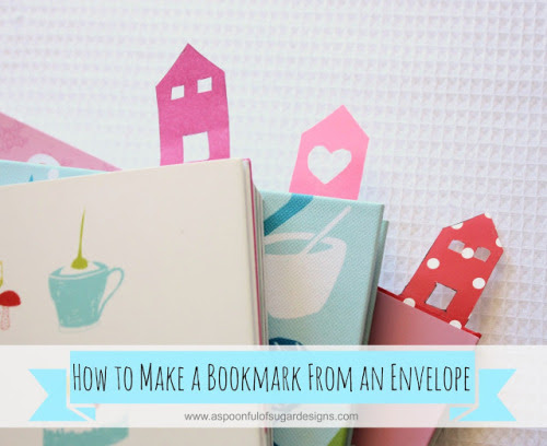 DIY corner bookmark made from an envelope @ A Spoonful of Sugar