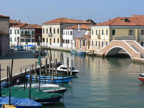 Boats and bridge, Murano
