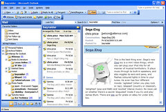 Attensa interface resembles the interface of newsgator outlook edition