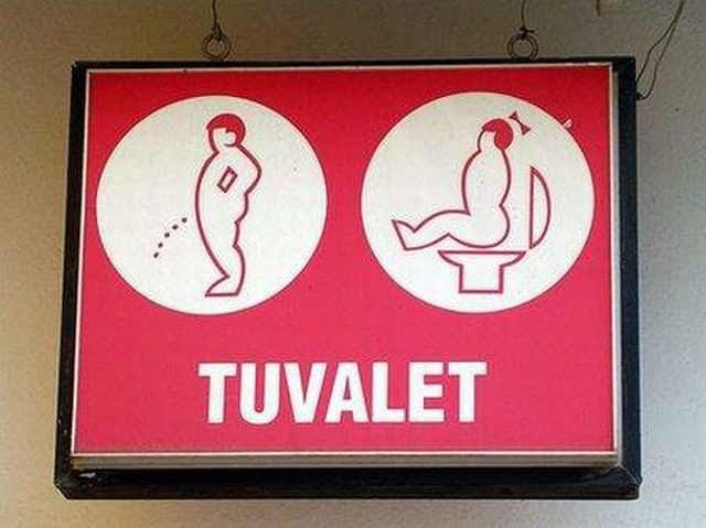 Divertidas Placas de Banheiro