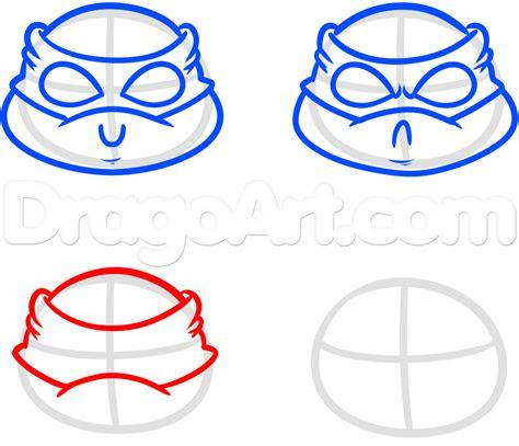 draw chibi teenage mutant ninja turtles step