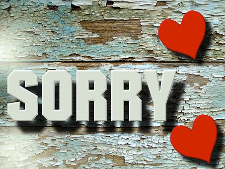 I'm sorry: Little But Powerful Words