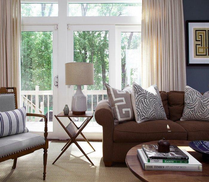 Brown Living Room Interior Design and Furniture | Founterior