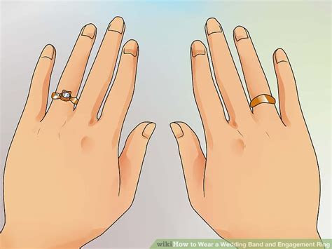 3 Ways to Wear a Wedding Band and Engagement Ring   wikiHow